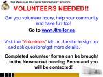 volunteers needed1