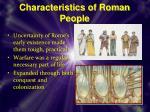 characteristics of roman people