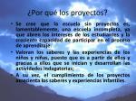 por qu los proyectos