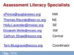 assessment literacy specialists