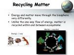 recycling matter