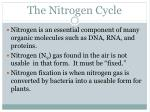 the nitrogen cycle1