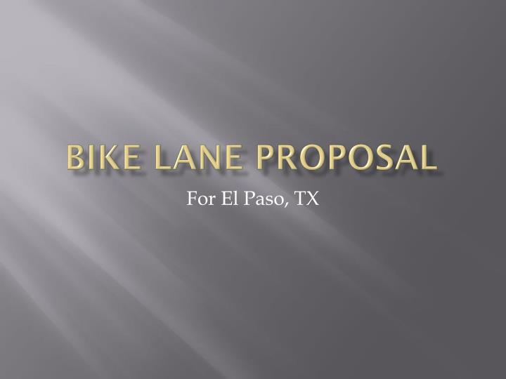 bike lane proposal n.