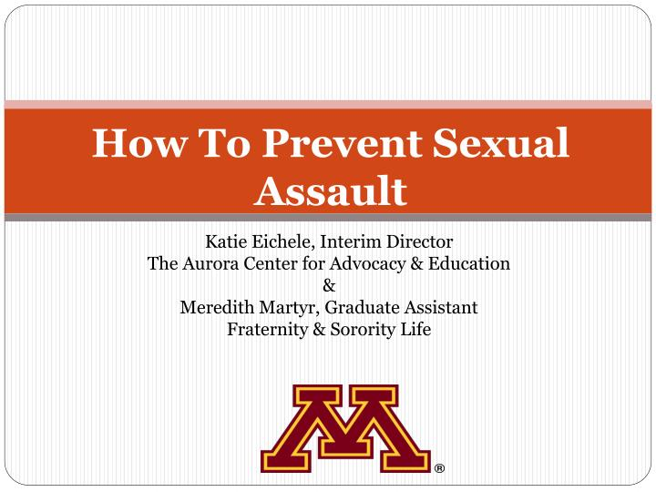 how to prevent sexual assault n.