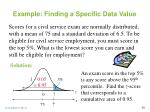 example finding a specific data value