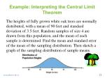 example interpreting the central limit theorem1