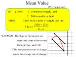 mean value