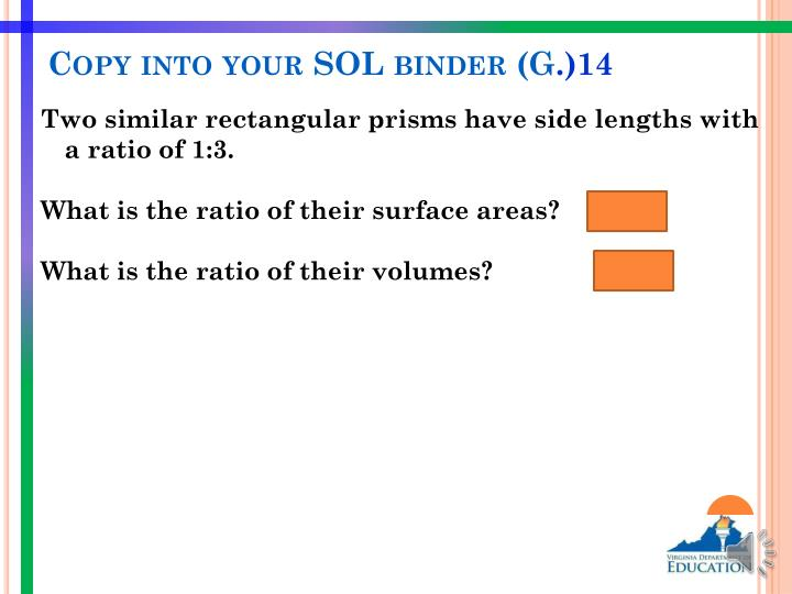Copy into your SOL binder (G