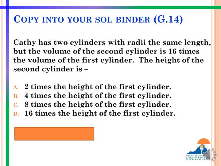 Copy into your sol binder (G.14)