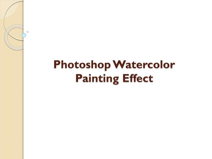 photoshop watercolor painting effect n.