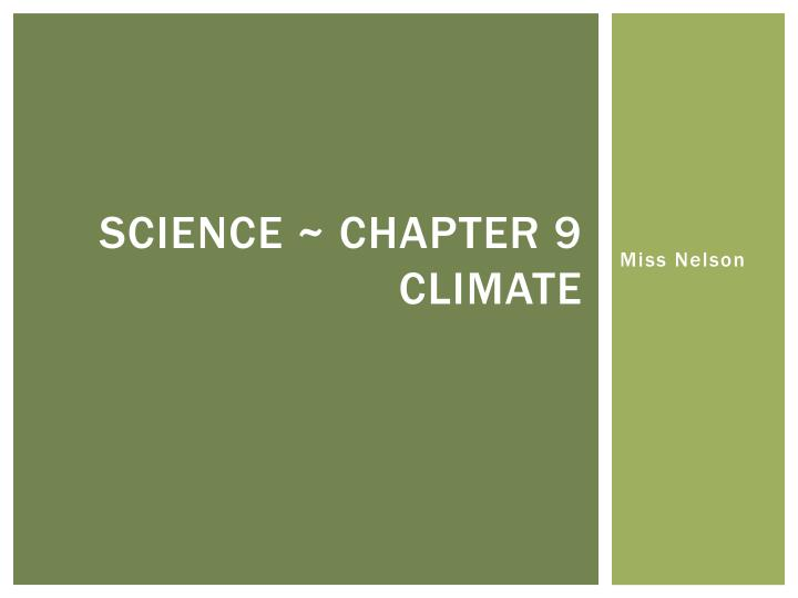 science chapter 9 climate n.