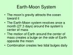 earth moon system
