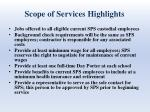scope of services highlights