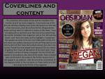 coverlines and content