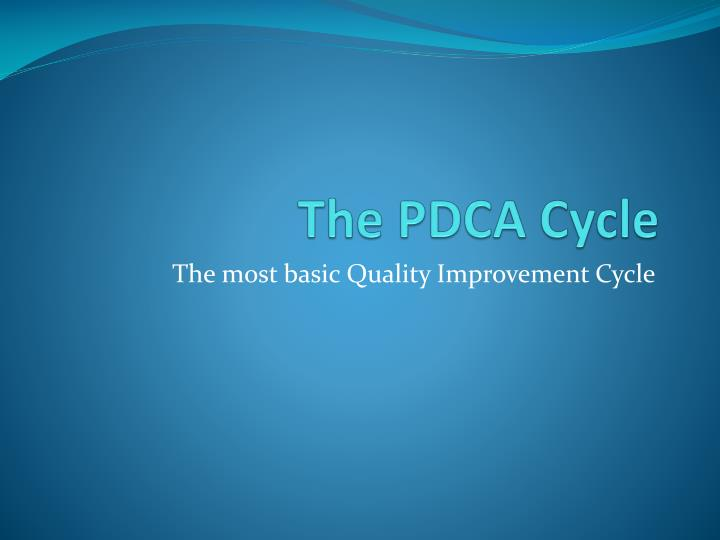 the pdca cycle n.