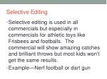 selective editing