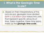 i what is the geologic time scale