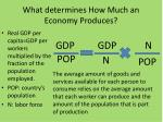what determines how much an economy produces