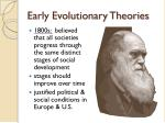 early evolutionary theories