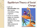 equilibrium theory of social change