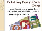 evolutionary theory of social change