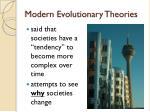 modern evolutionary theories