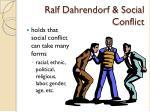 ralf dahrendorf social conflict