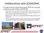 collaborations with jcsda emc