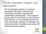 faculty appraisal support and appreciation