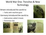 world war one trenches new technology