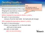 deciding equality uninterpreted functions45