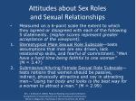 attitudes about sex roles and sexual relationships