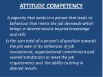 attitude competency1
