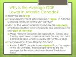 why is the average gdp lower in atlantic canada