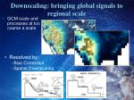 downscaling bringing global signals to regional scale