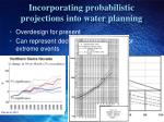 incorporating probabilistic projections into water planning