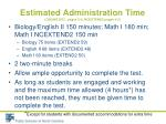 estimated administration time online eoc pages 2 4 ncextend2 pages 4 5