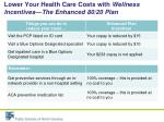 lower your health care costs with wellness incentives the enhanced 80 20 plan