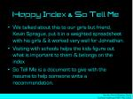 happy index so tell me