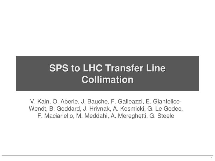 sps to lhc transfer line collimation n.