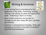 writing grammar
