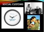 social customs