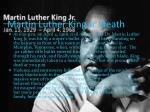 martin luther king jr death