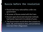 russia before the revolution