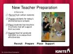 new teacher preparation