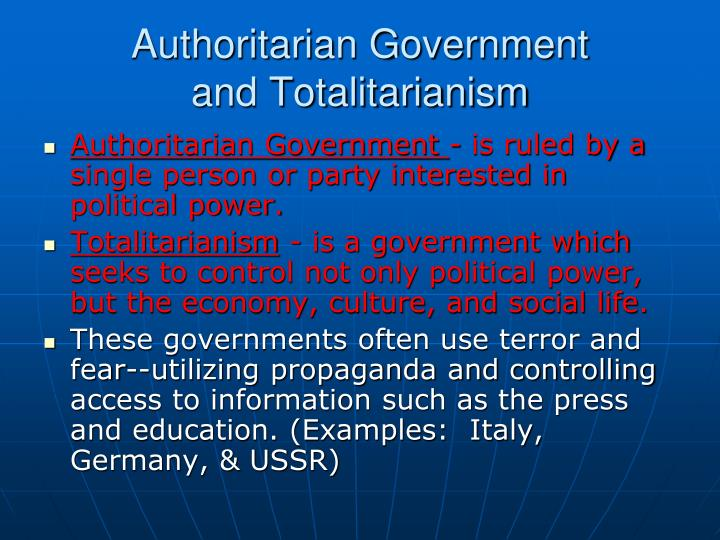 similarities between totalitarian and authoritarian governments Juan j totalitarian and authoritarian certain similarities between totalitarianism and modern totalitarianism form of government in which the.