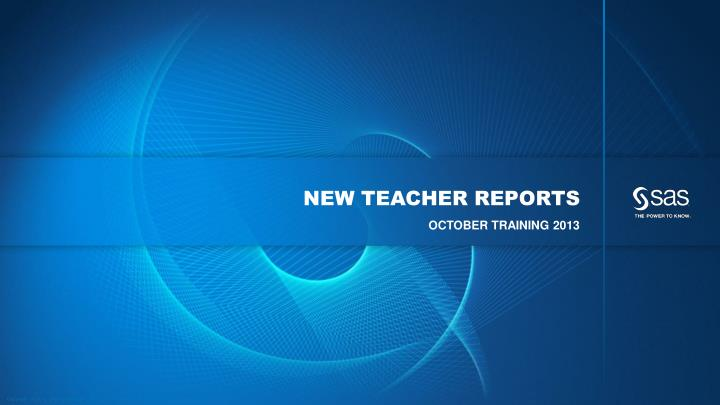 new teacher reports n.