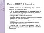 data ddrt submission