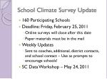 school climate survey update