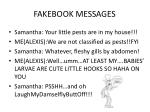 fakebook messages